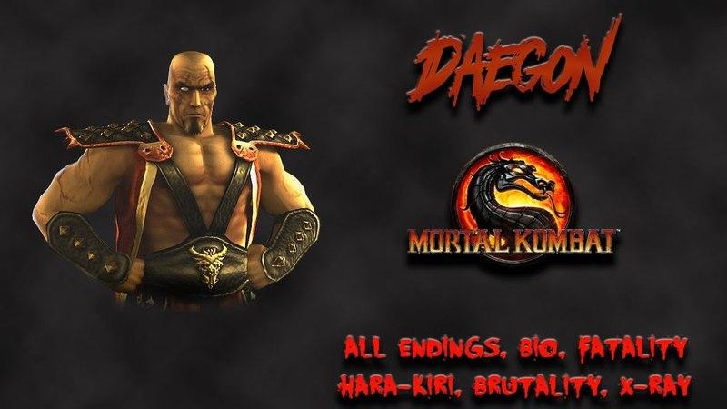 Mortal Kombat - All Fatality, Bio, Ending - Daegon