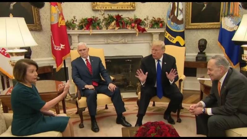 BORDER SECURITY 🔴 President Trump Vs Pelosi, Schumer at EXPLOSIVE Press Briefing Border Wall Budget