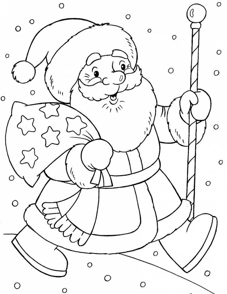 Новорічна розмальовка Дід мороз