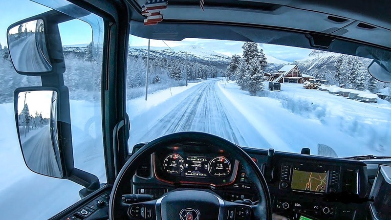 POV Driving Scania S520 - Descending Junkerdal in Northern Norway!