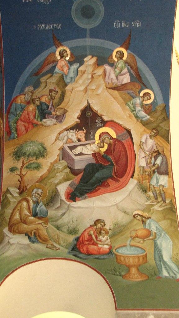 Фрескопис у манастиру Ваведење