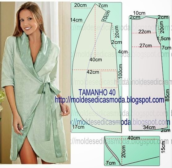 Выкройки стильных домашних халатов