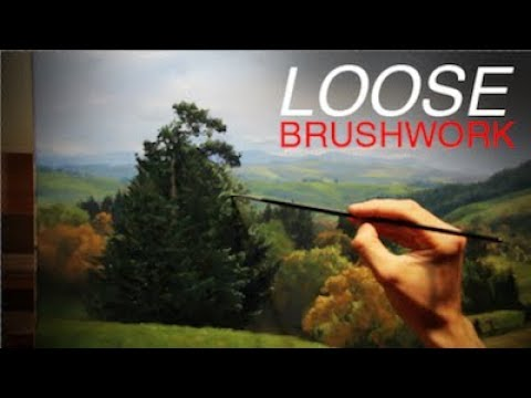 How to paint a LANDSCAPE Loose Brushwork and Limited Palette