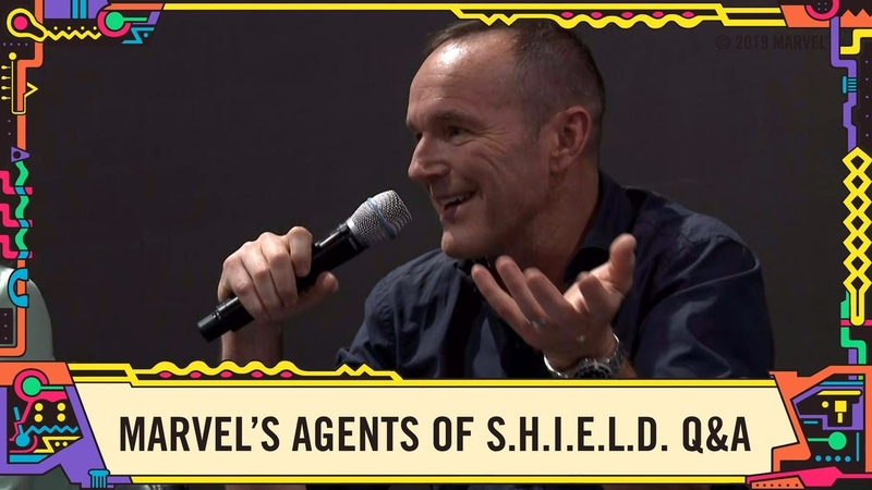 The Cast of Marvel's Agents of S.H.I.E.L.D. LIVE in the Marvel Booth at SDCC 2019