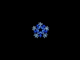Футаж Снежинки, световое шоу