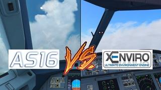 Active Sky 2016 VS. xEnviro   FSX VS. X-Plane 10   Low Overcast, Fog and Rain Comparison