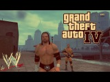 GTA 4 : WWE EVOLUTION Mod . Triple H , Batista and Randy Orton in Liberty city.
