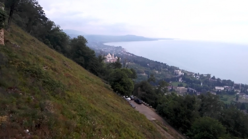 Иверская гора Крепость Анакопия Панорама Нового Афона