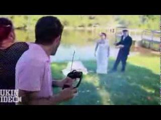 Взрыв на свадьбе, невеста матерится