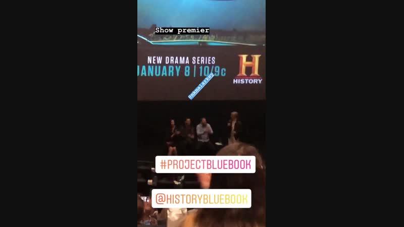Пресс конференция вопрос ответ после показа сериала Синяя книга в Далласе 14 ноября 2018 год
