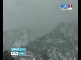 Снег и ветер в Греции кузбасским паломникам не помешали