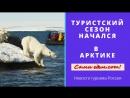Туристический сезон начался в Арктике.
