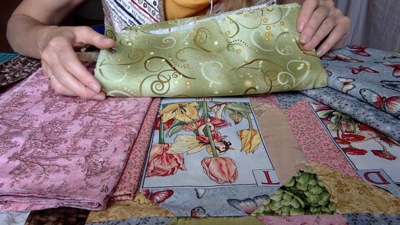 Лоскутный эфир 74. Как сшить Лоскутное одеяло с феечками? Ч 4. Вкусные ткани