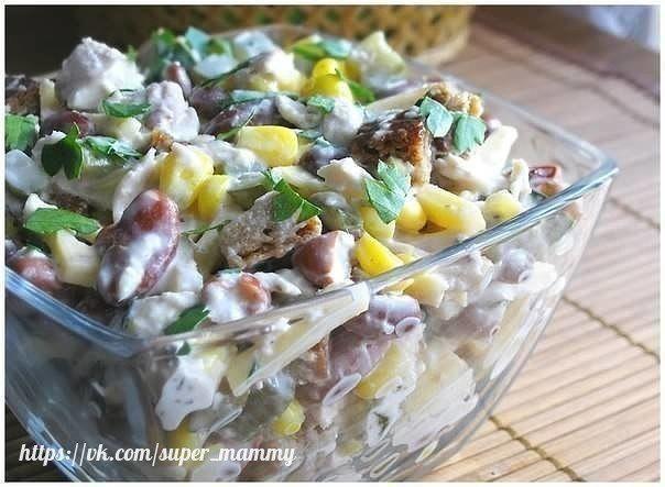 Топ - 6 салатов с куриным филе