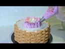 Кремовый ТОРТ Корзина тюльпанов Цветы из крема Olya Tortik Домашний Кондитер