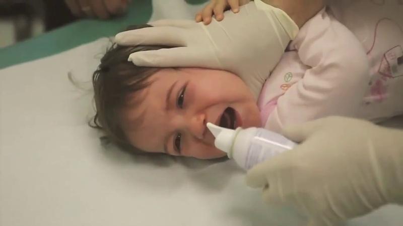 Fransız doktorların şaşırtan bronş temizleme yöntemi😱(Not Bebek hassasiyeti içerir)