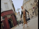 She improvises a dance in the streets of Paris to break her morning routine