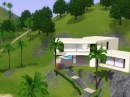 Modern House, Casa Volado. THE SIMS 3