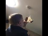 Проверка срабатывания датчика дыма. Система - Болид. Система работает штатно. ..Мы выполняем работы по разработке и монтажу ин