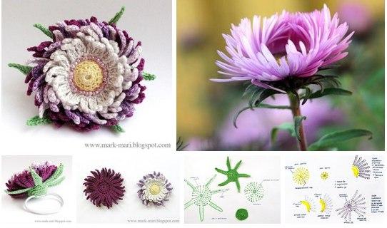 Красивые вязаные цветы