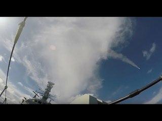 HMS MONTROSE Fires SEA CEPTOR Air Defence Missile System