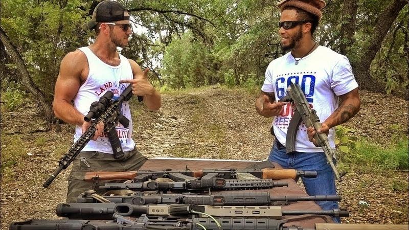 AR-15 против автомата Калашникова, что лучше | Разрушительное ранчо | Перевод Zёбры