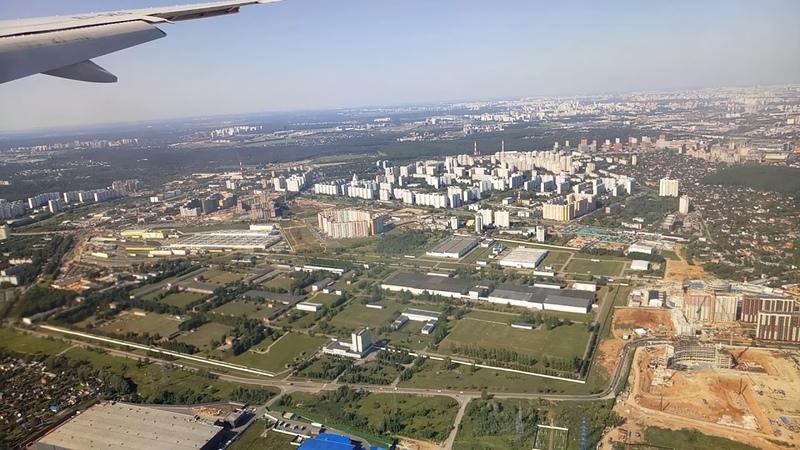 Москва, посадка в аэропорту Внуково - август 2018 (Moscow, Vnukovo Airport, arrival - 2018)