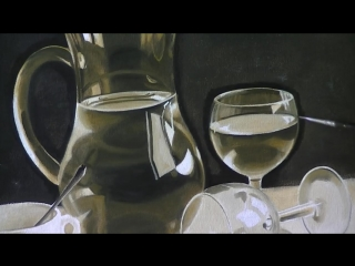 2 Bodegón al óleo - Blanco y negro... y un color más. .Óleos J. Martón