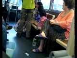 Crazy Jewish Woman Launches Racist Abuse On Bus
