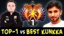 TOP-1 vs BEST KUNKKA — Noone Invoker vs Attacker on mid