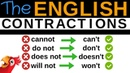 100 ENGLISH CONTRACTIONS Speak Better English Cannot, Cant, Do not, Dont,...