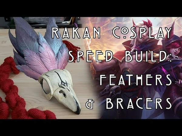 Tokkiyo Studio || Rakan Cosplay Speed Build Feathers Bracers
