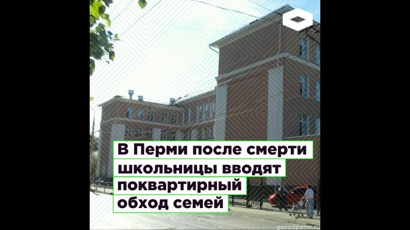 В Перми после смерти школьницы вводят поквартирный обход семей | ROMB