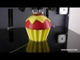 a Cup Cake Dual Color 3D Printing - Mankati 3D Printer Fullscale XT | Dual Extruder 3D Printer