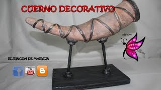 CUERNO DECORATIVO - Decorative horn