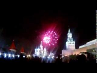 Новый Год. Красная площадь. Салют в честь Нового года. 2014 год