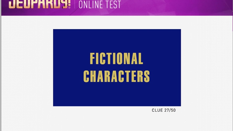 Jeopardy Adult Online Contestant Test March 7 2018