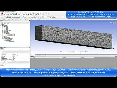 0009 ANSYS4ALL COMMUNITY: FEA of reinforced concrete slab Linear model