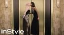 Julianne Hough Nina Dobrev | 2018 Golden Globes Elevator | InStyle