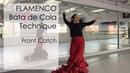 Flamenco Dance Lesson Bata de Cola Technique, Front Catch
