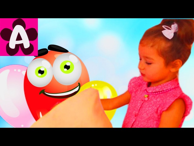 Learn colors with Bad Baby Balloons Baby Сrying Songs Finger Family Nursery Rhymes for kids colours