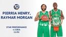 VTBUnitedLeague • Star Performance. Raymar Morgan Pierria Henry combine for 33 PTS vs CSKA | Season 2018/19