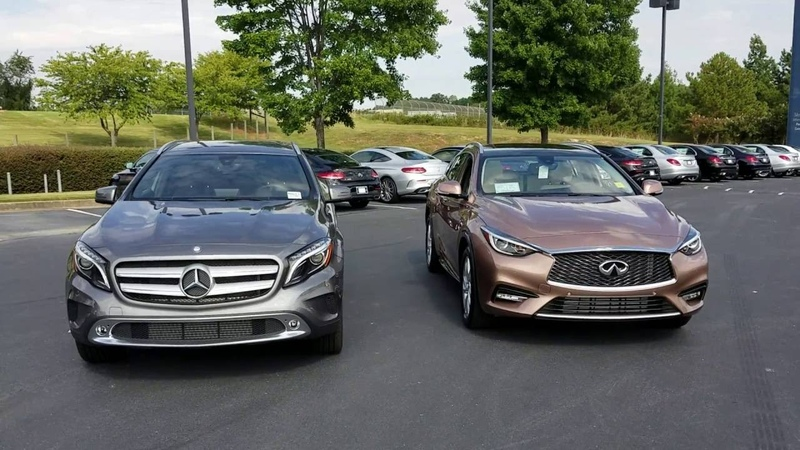 Mercedes-Benz GLA250 and Infiniti QX30 Comparison