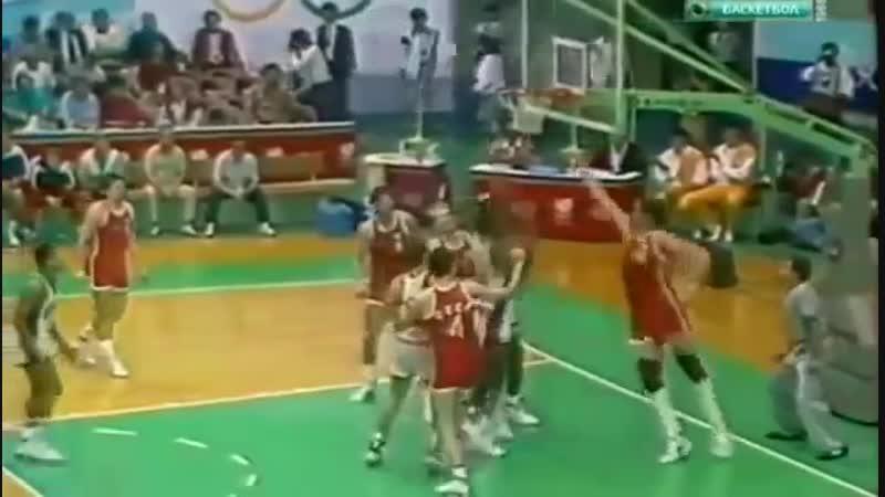 Олимпиада в Сеуле 1988 года. СССР-США, баскетбол, полуфинал 1988 Basketball USA USSR