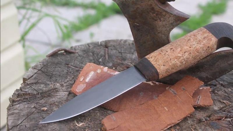 Нож из пилы Рукоять из пробки