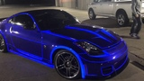 Real life TRON CAR! Nissan 350z lit up with lumilor! electroluminescent