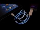 Светодиодный USB кабель для зарядки (светящийся кабель)