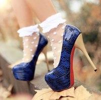 Туфли Синие На Каблуке