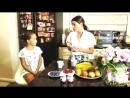 Ксения Бородина и Маруся в рекламе йогурта (август 2018)