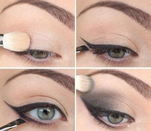 как наносить макияж smoky eyes пошагово в картинках